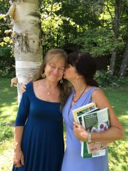 Nancy Phillips and Rosemary Gladstar at Heartsong Farm